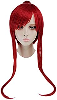 Erza Scarlet Cosplay Wig Red Hair Fairy Tail Halloween Costume Wig