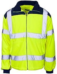 Fast Fashion Hi Viz Fleece Premium-Sicherheits Bomberjacke Warme Herren Arbeitsmantel Arbeitskleidung - Ausgekleidet