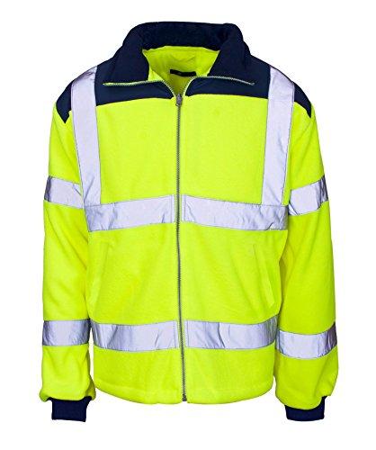Fast Fashion Hi Viz Fleece Premium-Sicherheits Bomberjacke Warme Herren Arbeitsmantel Arbeitskleidung - Ausgekleidet # Gelb