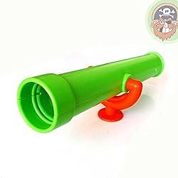 Teleskop apfelgrün Fernrohr für Kinder als Zubehör für Spielturm von Gartenpirat®