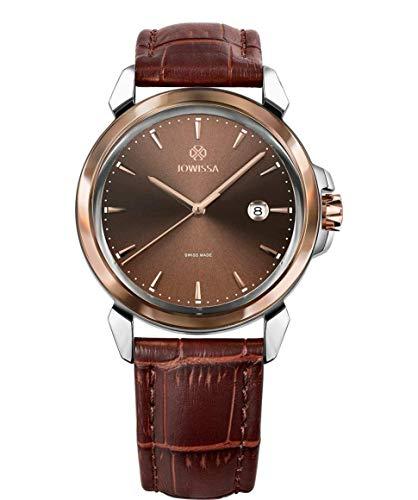 Jowissa LeWy 3 Swiss J4.240.L - Reloj para Hombre, Color marrón y Plateado