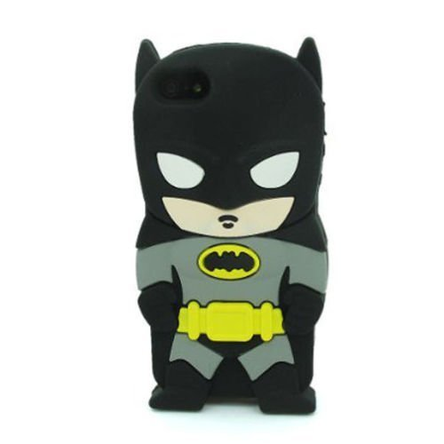 IPhone 5 5S 5C Fall, Anya 3D netter Bogen-Superheld-Serie Art-Karikatur-Leder Hülle Shell-Hülle für Apple iPhone 5 5S 5C Batman Arkham Ritter Super Hero Gangs (Iphone 5s Fall Cool)