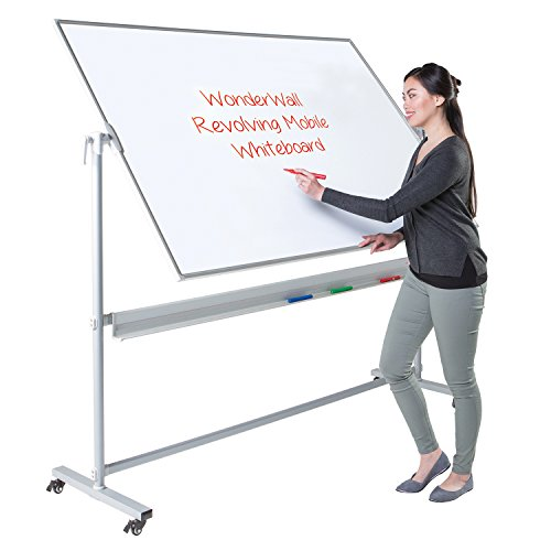 For Sale Wonderwall Freestanding Double-Sided Magnetic Revolving Mobile Whiteboard with Pen tray, 2 sizes available – (H)1200 x (W)1800mm Online