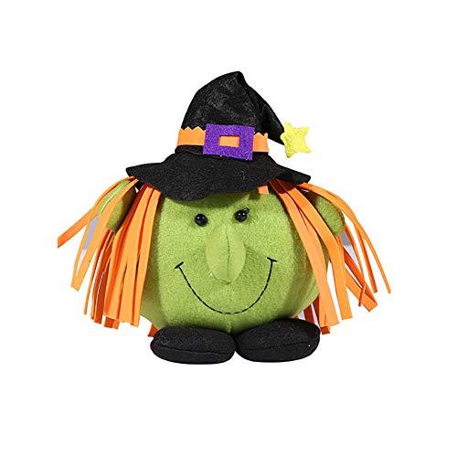 rationen, Kinderdekor-Geschenk Halloween-Puppe Zubehör Spielzeug Kürbis-Hexe-Plüsch-Puppen Ornaments Startseite Schlafzimmer Trick Treat (Hexe) ()