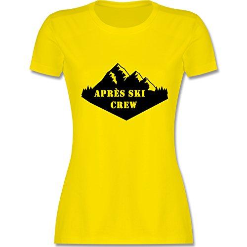 Après Ski - Apres Ski Crew - tailliertes Premium T-Shirt mit Rundhalsausschnitt für Damen Lemon Gelb