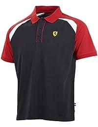 Scuderia Ferrari F1 para hombre Race polo negro 34fe2857d86