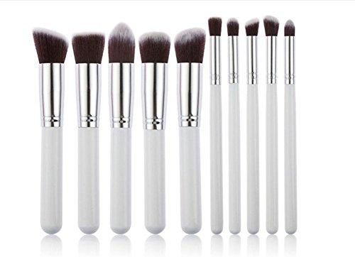 Da.Wa Make-up Pinsel set,10 Stück Professionelle Kosmetik Pinselset Powder Foundation Pinsel...