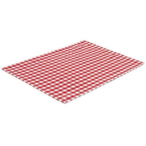 ck Rot/Weiß kariert (Farbe und Design wählbar) 33 x 45 cm - hochwertig gefertigte Platzsets aus 100% Baumwolle im skandinavischen Landhaus-Stil ()