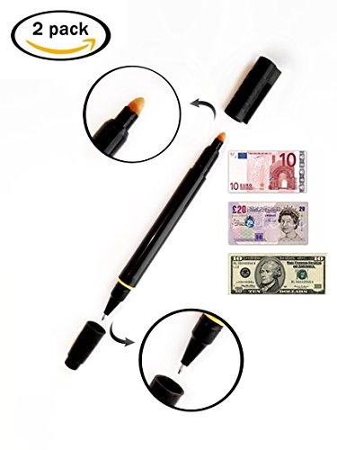 [1+1 GRATIS] Stifte 2 in1 setproducts©: Geldscheinprüfer und Kugelschreiber [EUROS / DOLLARS / POUNDS ...]