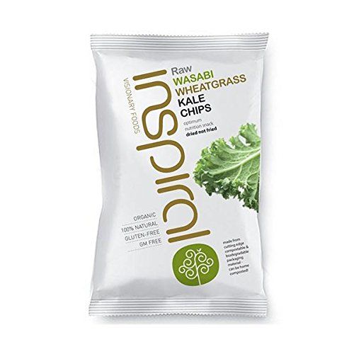 (10 PACK) – inSpiral – Wasabi Wheatgrass Kale Chips IVP16 | 30g | 10 PACK BUNDLE