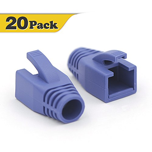 VCE 20 Stück Netzwerk Knickschutz für Crimpstecker CAT7,CAT6A,CAT6 RJ45 Netzwerkstecker Ethernet Lan Kabel -