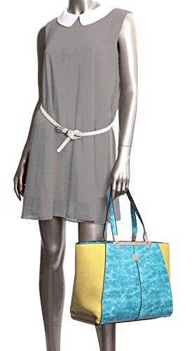 Grande Negozio Di Borse, Damen Tasche Turchese - Giallo (fz289)