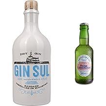 Gin Sul (1 x 0.5 l) mit Fentimans Rose Lemonade, 12er Pack (12 x 200 ml)