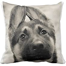 Babyssj carino cucciolo di pastore tedesco custodia cover cuscino 18x 18(due lati)