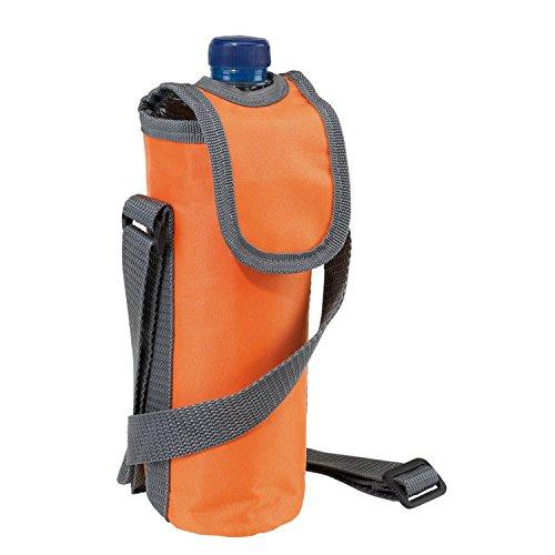 Borsa termica per bottiglie da 0,5 l, delle dimensioni di 20 x 7 cm, con tracolla, in nylon 420d, orange, 20 x 7 cm
