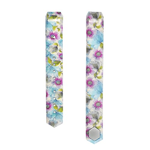 Ersatz-Armband für Fitbit Alta/Alta HR Fitnessarmband, Silikon, Größe S/L (ohne Tracker), Flowers-10, Small(95mm)
