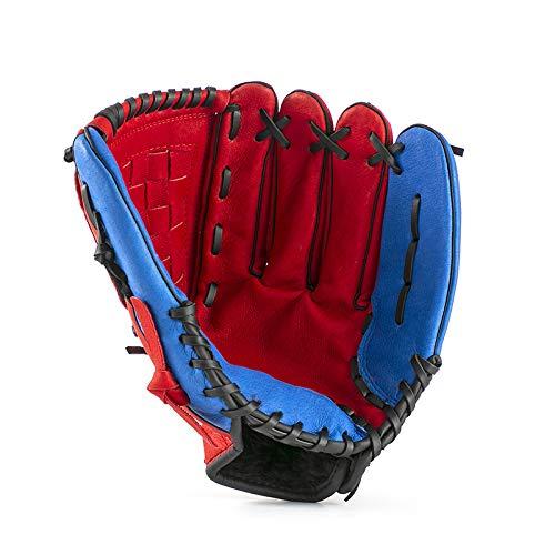 YIEWFI Baseball-Handschuhe, verdickte Softball-Handschuhe, Catcher Infielder Pitcher, Erwachsene, Kinder und Jugendliche, Rot, Größe L -
