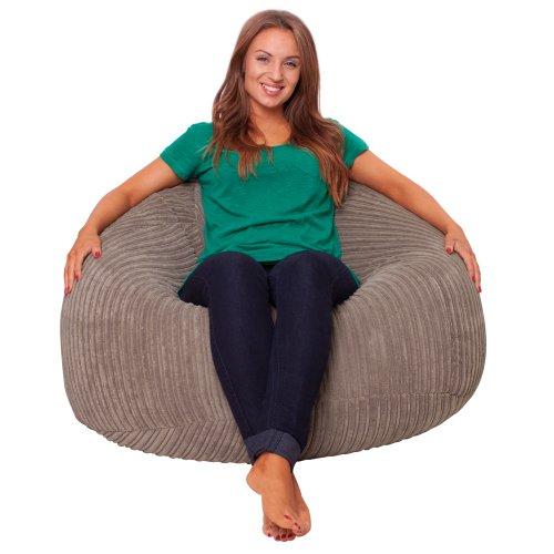 luxury-microplush-cord-panelled-xl-bean-bag-chair-taupe-bean-bags-from-bean-bag-bazaar