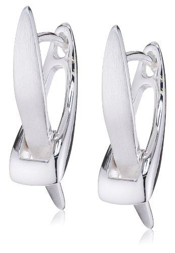 Vinani Klapp-Creolen X-Form Sterling Silber 925 Ohrringe - Mode Kostüm Schmuck China