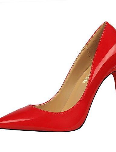 GS~LY Da donna-Tacchi-Formale-Tacchi / A punta / Chiusa-A stiletto-Finta pelle-Nero / Rosso / Bianco / Carne nude-us5 / eu35 / uk3 / cn34