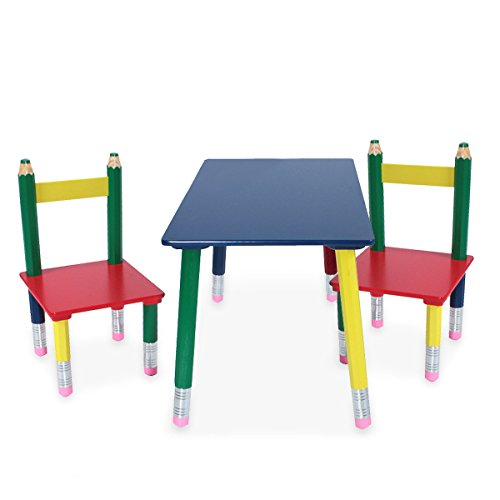 Kinder Tisch Stuhl (Unbekannt Hochwertige Kinder Tisch Gruppe Stühle Massiv Holz bunt lackiert Spiel Zimmer Mobiliar Harms 303990)