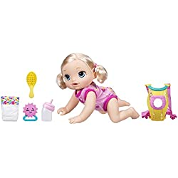 Baby Alive Baby Go Bye Bye (Blonde) - El bebé vivo del bebé va adiós (el Rubia) -Habla inglés o español