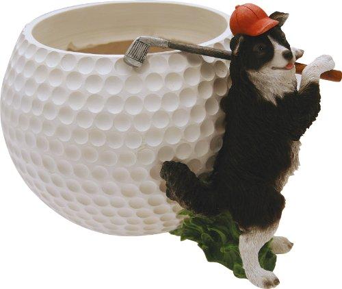 Cache-pot sportif chien golfeur cm.15.3 H.