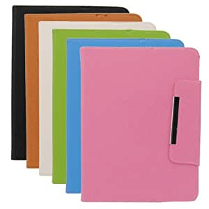 Folio Universal Leather Case With Folding Stand For 8 Inch Tablet