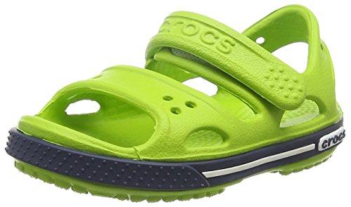 huge discount 2ddcd 2b7d5 Crocs Crocband II Sandal Kids, Sandalias Unisex Niños, Verde (Volt  Green Navy