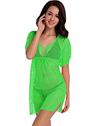 Vestidos Playeros Manga Corta Vestido Playa Cortos Vestidos de Verano Mujer Vestido Playero Boho Corto con