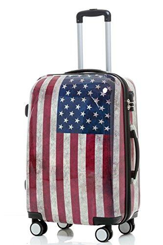 Maleta de viaje 2060,rígida, en 12 motivos, XL, L, M America M(Handgepäck)