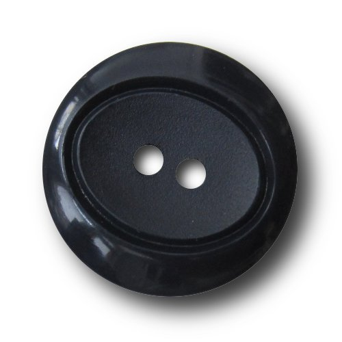 Set schicke dunkelblaue Zwei-Loch-Knöpfe / blau / Kunststoff / Ø ca. 20mm (Blaue Knopf Ca)