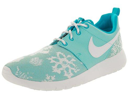 Nike Roshe One Print Toile Baskets Copa-Blue Lagoon-White
