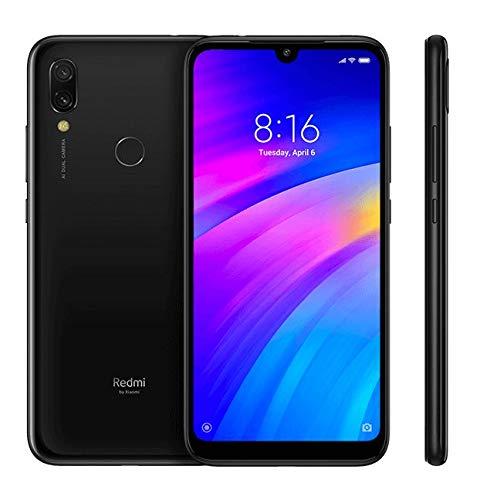 Xiaomi Redmi 7, Cellulare da 15,9 cm (6, 26'), (64GB ROM, 3GB RAM, Android 9.0 (Pie), Dual SIM), Nero (Eclipse Black)