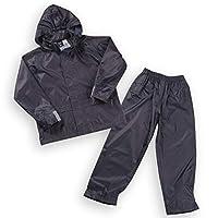 Boys Kids Childrens Waterproof Jacket Coat Trousers Pants Set Hooded Tracksuit Navy 3-4 Years