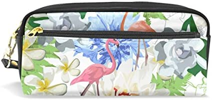 Coosun flaFemmets roses et fleurs exotiques Portable Cuir PU Trousse d'école Pen Sacs papeterie Pouch Case Grande contenance Sac de maquillage B0759DQTMJ | être Dans L'utilisation