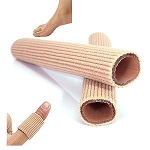 2 Stück Soft Exklusiv Silikon Zehenschutz Schlauchbandage Druckschutz Zehen Schutz