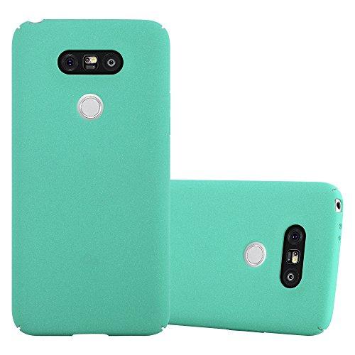 Preisvergleich Produktbild Cadorabo Hülle für LG G5 - Hülle in Frosty GRÜN – Hardcase Handyhülle im matten Frosty Design - Schutzhülle Bumper Back Case Cover