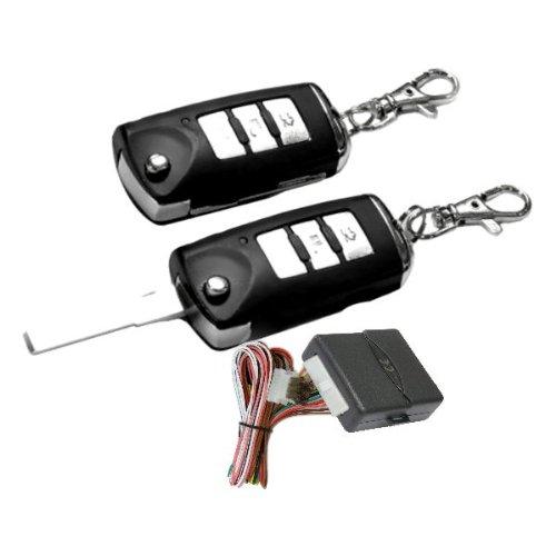 Akhan 100F115 - Funkfernbedienung Klappschlüssel für vorhandene original Zentralverriegelung, mit 2 Handsender geeignet für pneumatische, elektrische u. nachträglich eingebaute Zentralverriegelungen