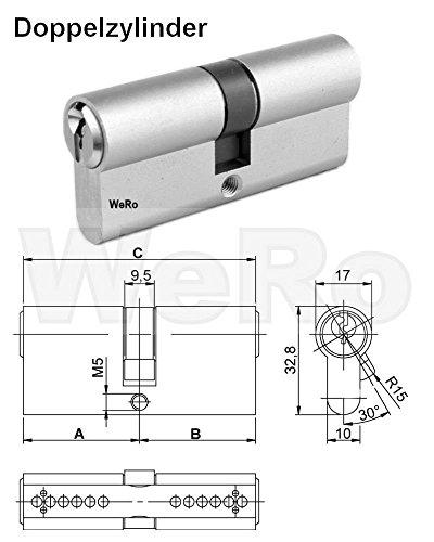 Schließzylinder für gleichschließendes SET / Längen frei kombinierbar - 2
