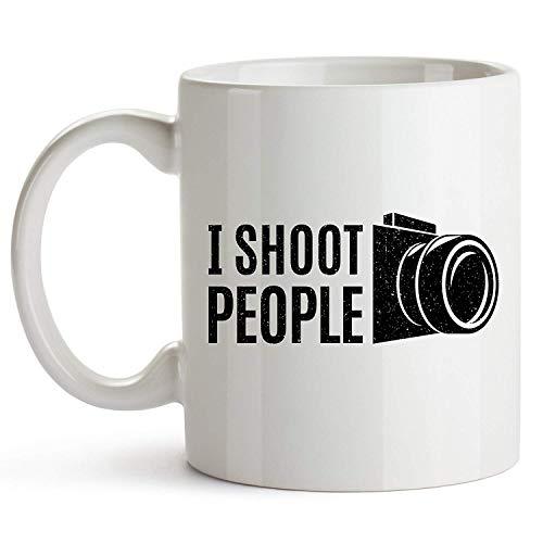 11oz Coffee Mug - I Shoot People - Ceramic Coffee Mug - Mug Gift for Photographers - Gift for Photographers - Photography Cup - Funny Photographer Coffee Mug - Gag Gift for Photography Lovers