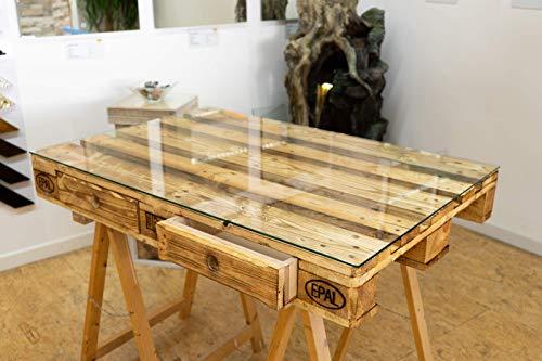 MySpiegelde-Glasplatte-Glasscheibe-fr-Euro-Palettenmbel-6mm-120x80-cm-Polierte-Kante-Ecken-gestoen-Durchsichtig-Klar-Glasboden-Glastisch
