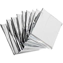 Yardwe 5 Piezas Manta Multiusos Película de Mylar Reflectante de Alta Plata Caliente Mantenimiento Láminas de Aluminio Suministros de La Casa Verde para La Tienda de Emergencia