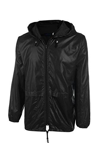 Coofandy Men's Lightweight Jacket Waterproof Outdoor Rain Coat