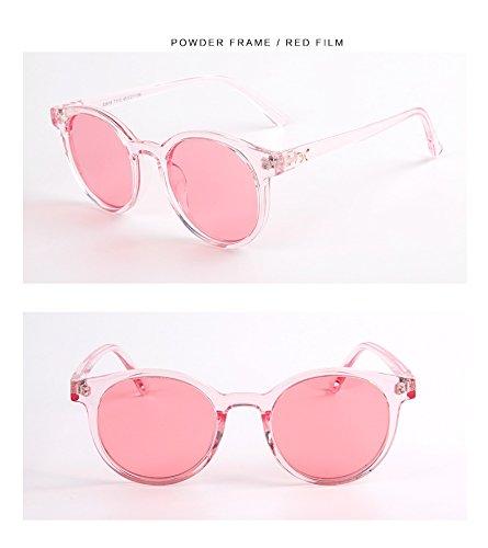 Glasses Mode uv400 Spiegel Kind Sonnenbrille transparent runde Rahmen cat Eye polarisierte Sonnenbrille Jungen mädchen Kinder Baby Brille (Color : Pink)