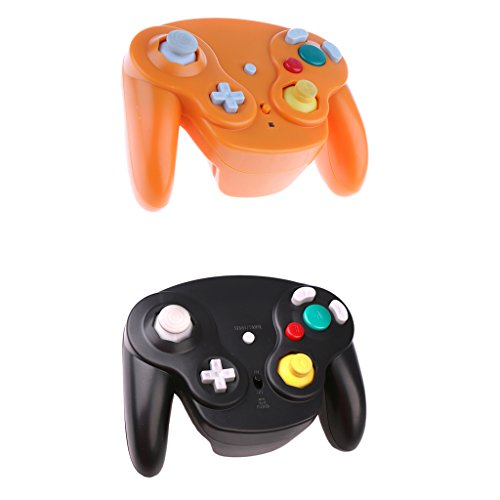 homyl Gemeinsam Videoleuchte CONTROLEUR Adapter Controller Wireless Game USB Schnittstelle Stück Ersatz für Nintendo Wii orange (Remote Ersatz Feuer)
