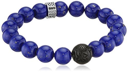 Thomas Sabo Herren-Armband 925 Silber Lapis Lazuli blau Zirkonia 15.5 cm-A1534-930-32-L15,5 (Herren-obsidian)
