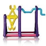 FINGERLING Interaktives Baby Affe Pet Spielzeug Klettern Spielset Rahmen Klettern Aufsteller Wippe Swing Set (Affe ist nicht im Lieferumfang enthalten), violett, middle