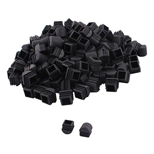 Jambes dealMux meubles de plastique Chaise Table Tube carré Tuyau Embouts caps 25 mm x 25 mm 200pcs noir
