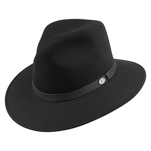 Village Hats Chapeau Fedora Safari Dalton Noir Bailey